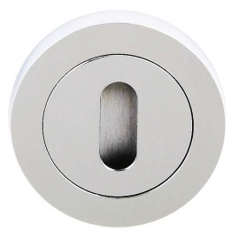 Polished Chrome Standard Key Escutcheon (pair)