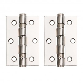 Polished Chrome Ball Bearing Hinges. 3 Inch.