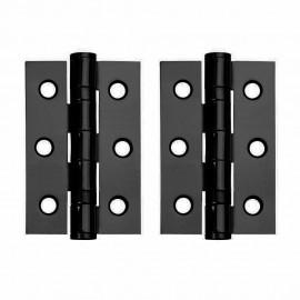 A Pair of Black Ball Bearing Door Hinges. 3 inch.