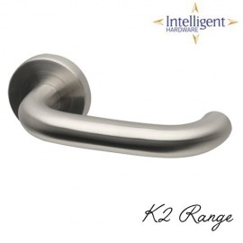 K2 Satin Stainless Steel Door Handles
