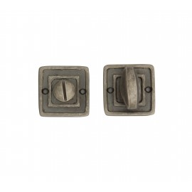 Tudor Bathroom Thumbturns on Square Rose (52mm)