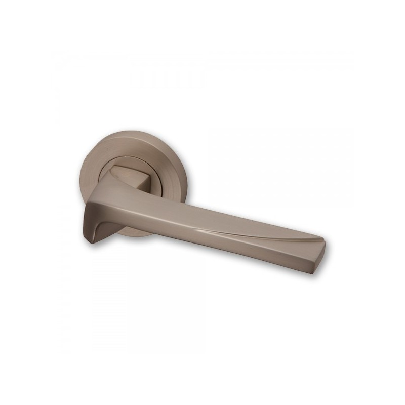 Moderna Door Handles on Square Rose