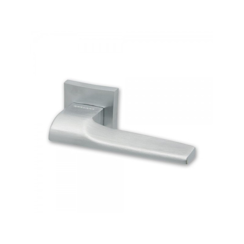 Lucca Door Handles on Square Rose