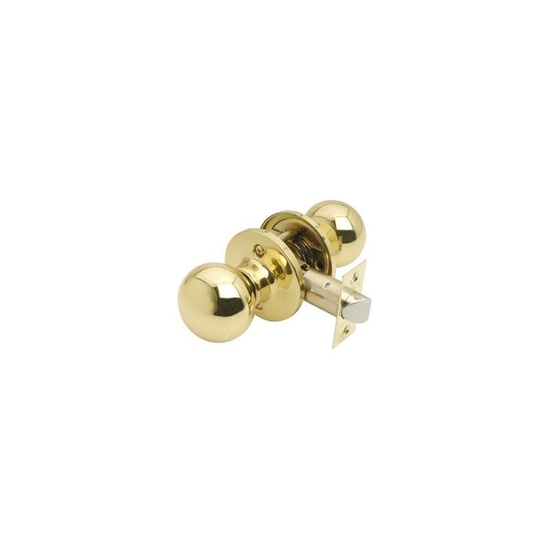 Bala door knobset in polished brass