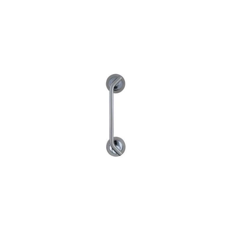 Dual finish amethyst pull handles