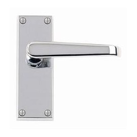 Victorian Straight Polished Chrome Door Handles