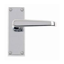 Victorian Polished Chrome Door Handles