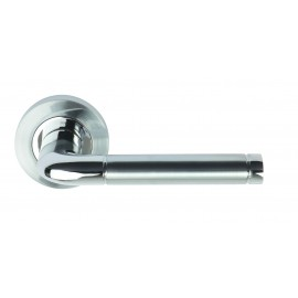 Colima lever on round rose Dual Finish SCP/PCP