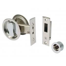 Round Sliding Door Bathroom Hook Lock Set