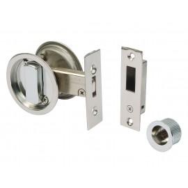 Round Sliding Door Bathroom Hook Lock Set