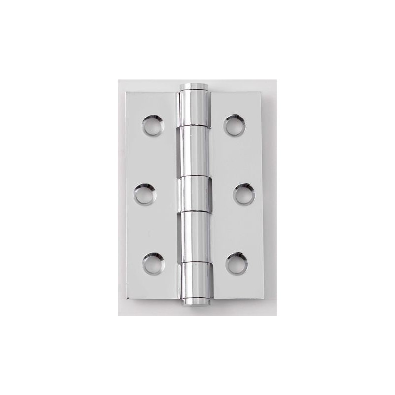 Steel button tipped butt hinges 75mm