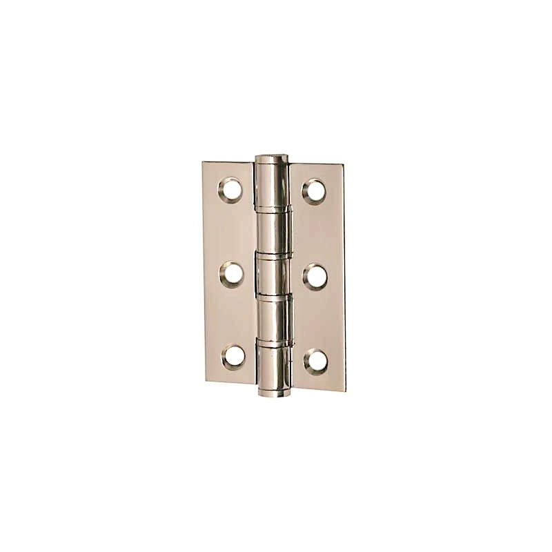 Stainless steel washered butt hinges 75mm