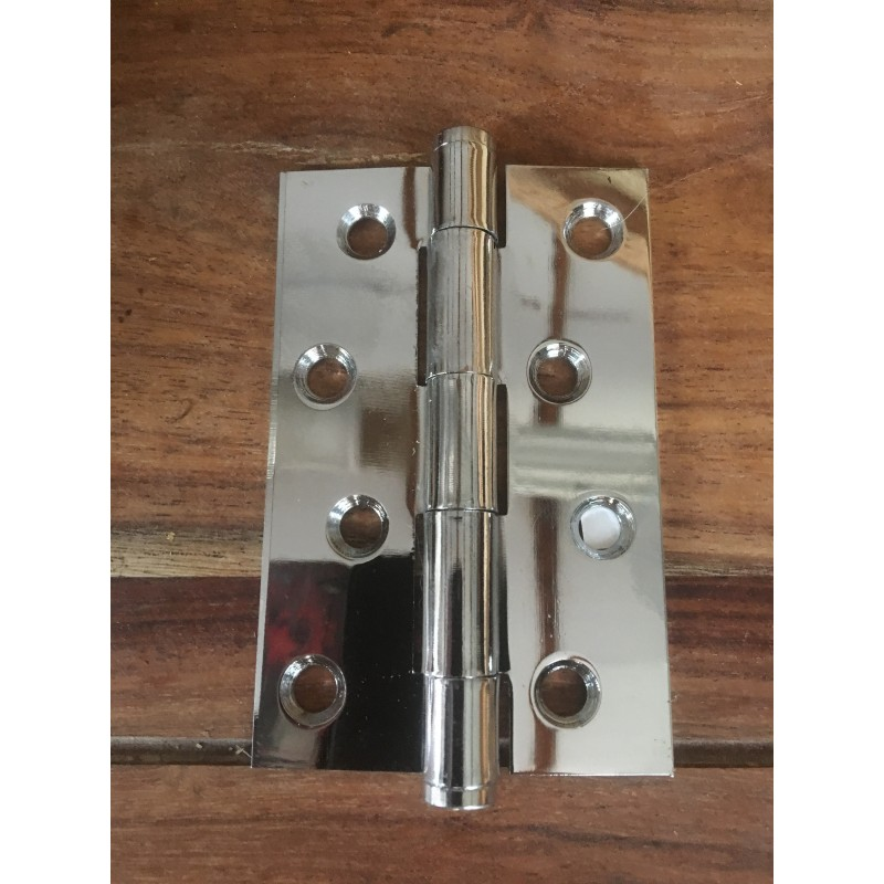 Steel Button Tipped Butt Hinges 100mm x 65mm 4 inch