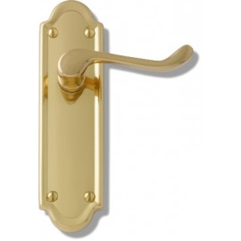 Berkeley Polished Brass Door Handles