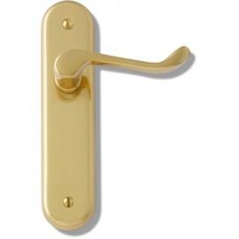 Kensington short plate lever door handles