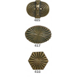 Ribbed Cast Iron Knobs - Antique