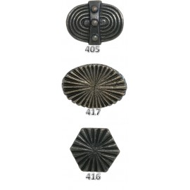 Ribbed Cast Iron Knobs - Black