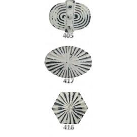 Ribbed Cast Iron Knobs - White
