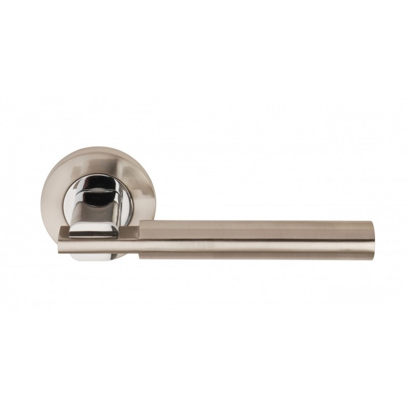 Chronos Door Handles on 53mm Round Rose