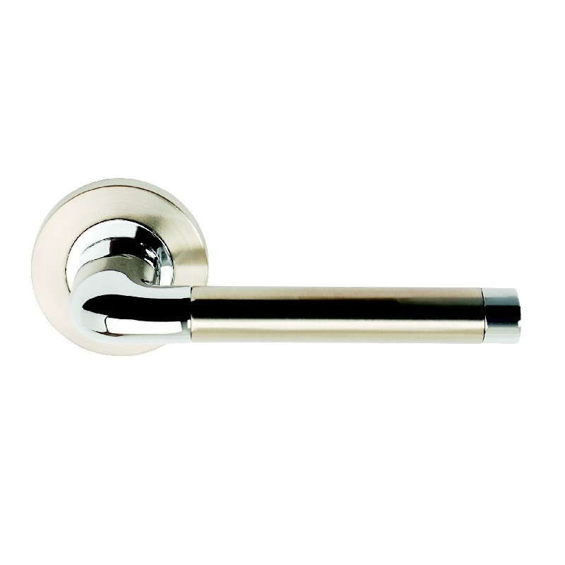 Argo Door Handles on 53mm Round Rose
