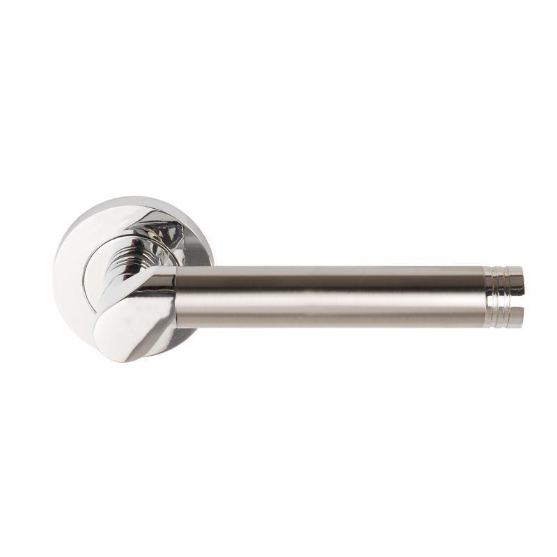 Callisto Door Handles on 53mm Round Rose