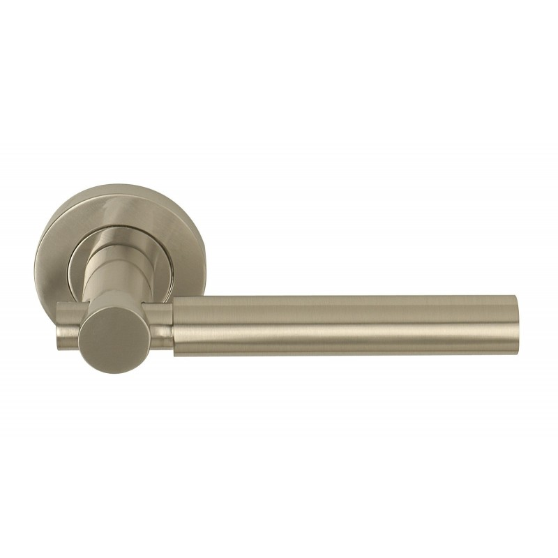 Astro Door Handles on 53mm Round Rose. (SN)