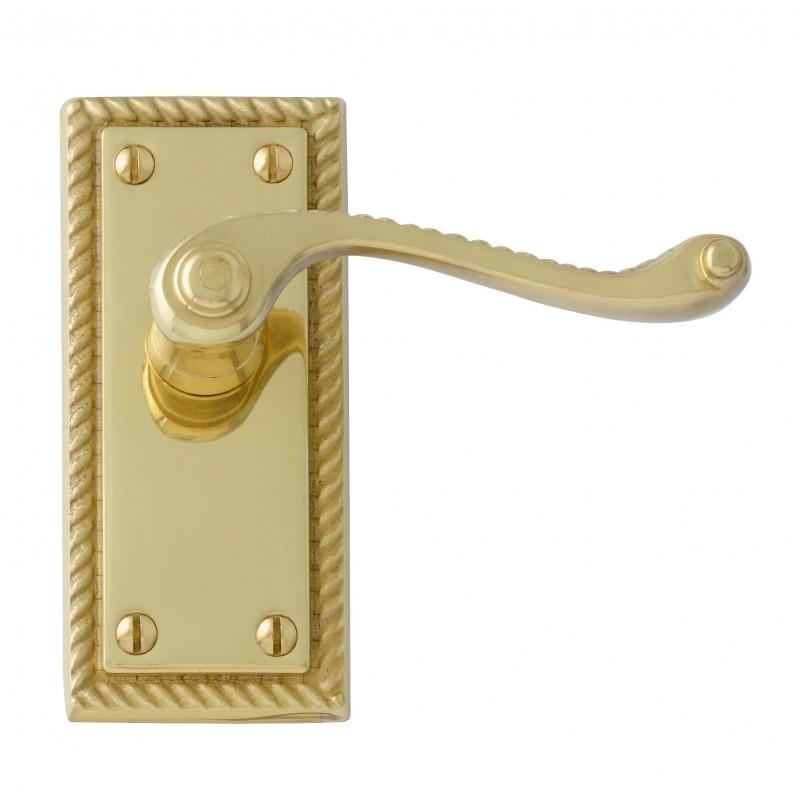 Interior Door Handles Georgian Polished Brass Internal