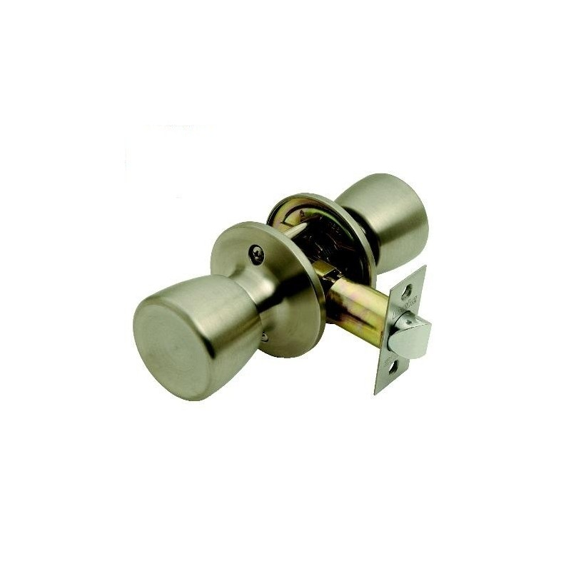 Guardian Door Knobset in Satin Chrome