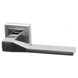Canterbury Dual Finish Designer Lever Door Handles on Square Rose