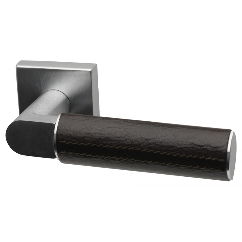 Diamond Dual Finish Designer Lever Door Handles on Square Rose