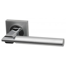 Tetra Dual Finish Designer Lever Door Handles on Square Rose