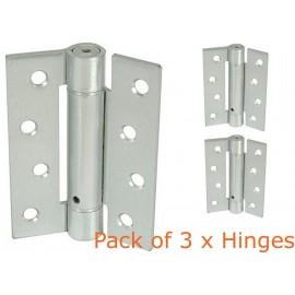 Pack of 3 Self Close Hinges. Adjustable Spring Fire Door Hinges.