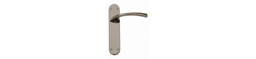 Buy Black Nickel Door Handles On A Blackplate Online in UK